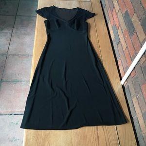 Black lace top cocktail dress